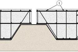 Схема армирования фундамента с ребрами жесткости