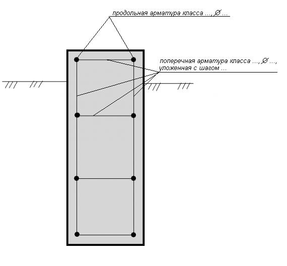 Схема поперечного армирования