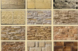 Виды искусственного камня: гранит, разновидности мрамора, оникс, травертин, песчаник, сланец, различные экзотические виды камня, декоративный камень, имитирующий античные виды камня, и многие другие.