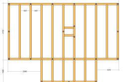 Схема свайного поля и нижней обвязки