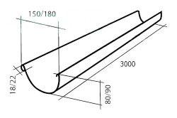 Схема желоба для заливки бетона