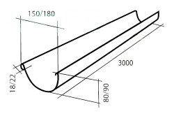Схема желоба для заливки бетона.