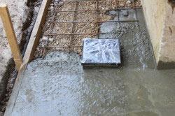 Армирование бетонного основания под дом.