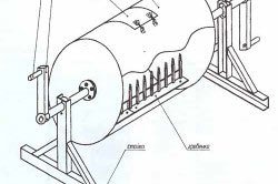 Конструкция бетономешалки из бочки