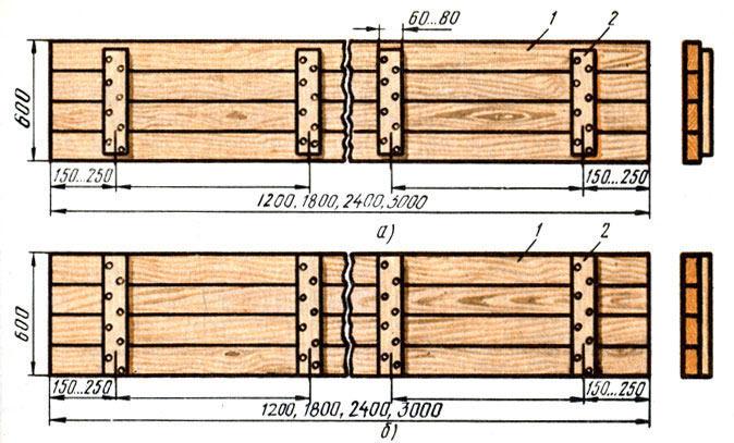 Щиты деревянной разборной опалубки для фундамента.