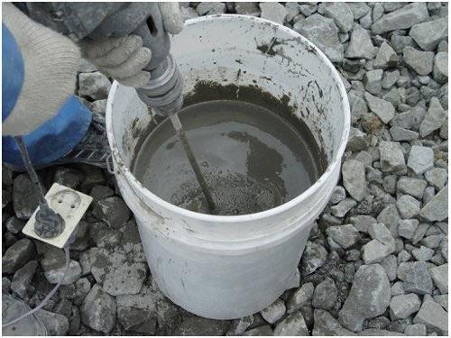 Изготовление бетонной смеси.