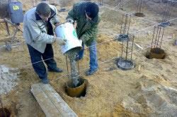 Изготовление буронабивных свай с креплением глинистым раствором