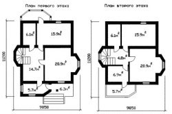 Планировка дома из кирпича