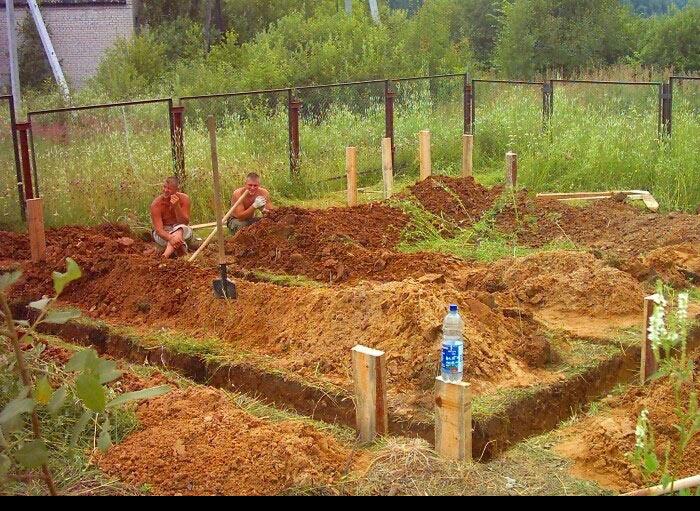 Ленточный фундамент на участке со склоном