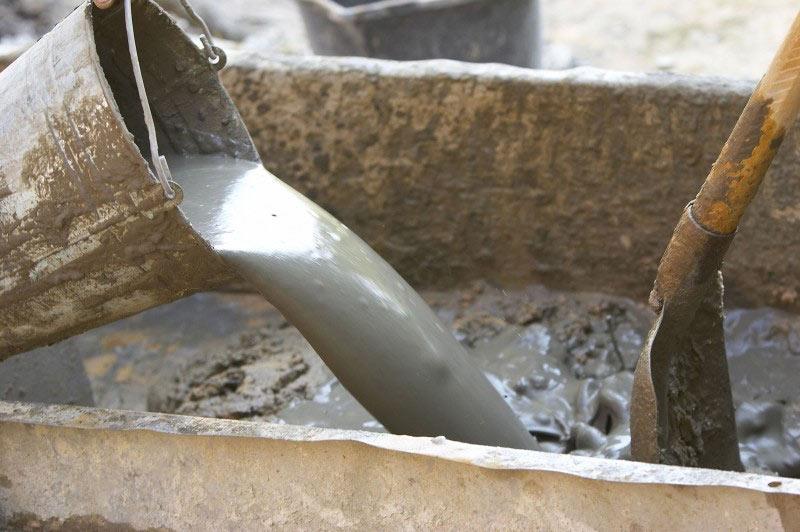 Цементная смесь.