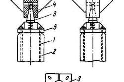 Схема присоединения вибропогружателя в железобетонной свае.