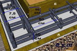 Общий план армирования фундаментной ленты