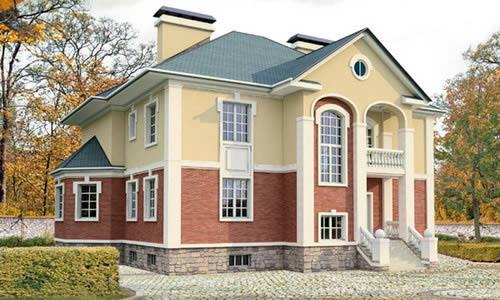 Дом с цокольным этажом.