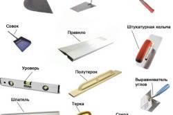 Инструменты для штукатурки стен.