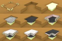 Этапы строительства плитного фундамента