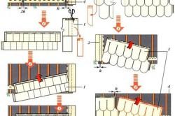 Установка рядовых панелей цокольного сайдинга.