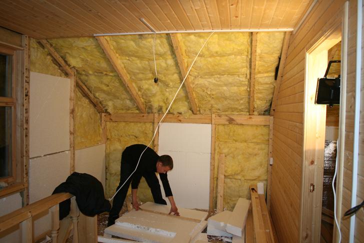 как утеплить стены в частном доме внутри