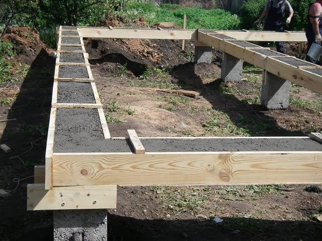 Фундамент дома на болотистой почве