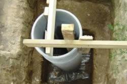 Монтаж фундамента из асбестоцементных труб