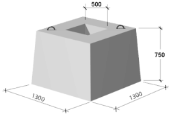 Размеры монолитного фундамента