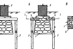 Варианты решений «пересадки» фундаментов на вертикальные сваи