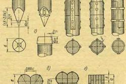 Конструктивные детали деревянных свай