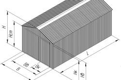 Схема параметров гаража
