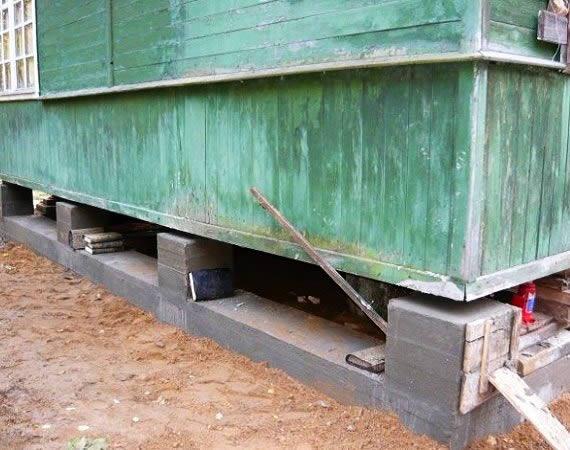 Фундамент на опорах из бетонных блоков