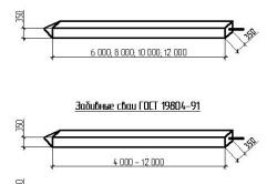 Ж/б сваи различных размеров