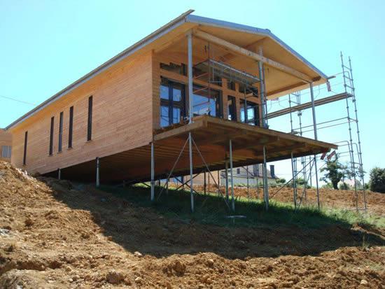 Дом построенный с использование свайного фундамента