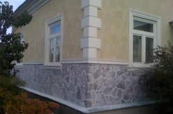 Облицовка фундамента дома камнем