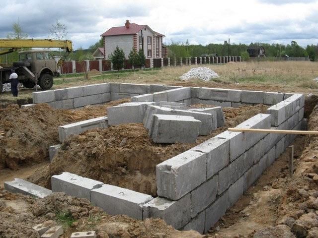 Фундамент из газобетонных блоков.