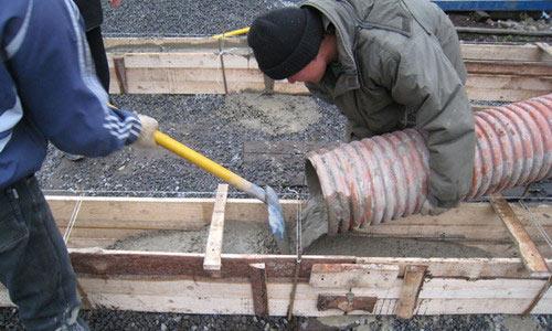 Заливка столбов бетоном виды ячеистый бетон